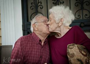 Gpa and Gma kiss in last week