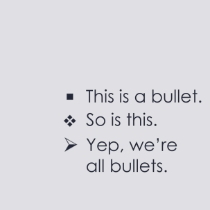 this is a bullet