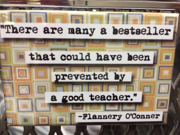 flannery oconnor prevented by teacher