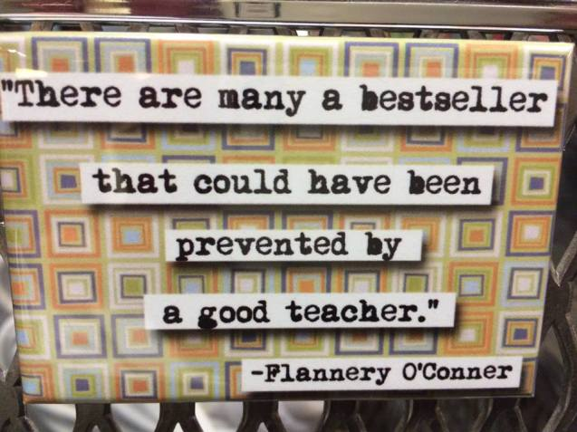 flannery oconnor prevented by teacher