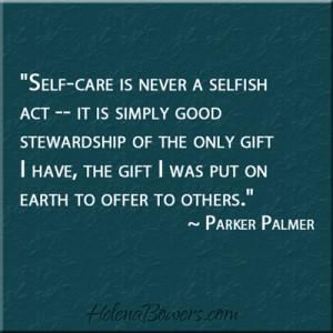 self care stewardship palmer