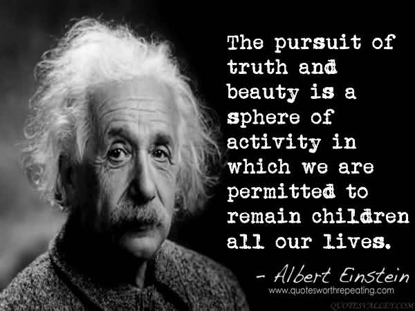 beauty and truth einstein