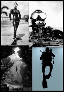 divers collage